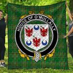 1stScotland Premium Quilt - House Of O'Mullally Irish Family Crest Quilt - Irish National Tartan A7