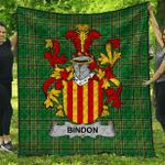 1stScotland Premium Quilt - Bindon Irish Family Crest Quilt - Irish National Tartan A7