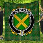 1stScotland Premium Quilt - House Of O'Dowd Irish Family Crest Quilt - Irish National Tartan A7