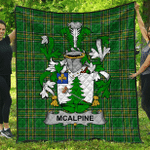 1stScotland Premium Quilt - Mcalpine Or Macalpin Irish Family Crest Quilt - Irish National Tartan A7