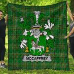 1stScotland Premium Quilt - Mccaffrey Irish Family Crest Quilt - Irish National Tartan A7