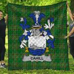 1stScotland Premium Quilt - Cahill Or O'Cahill Irish Family Crest Quilt - Irish National Tartan A7