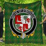 1stScotland Premium Quilt - House Of O'Riordan Irish Family Crest Quilt - Irish National Tartan A7