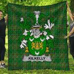 1stScotland Premium Quilt - Kilkelly Or Killikelly Irish Family Crest Quilt - Irish National Tartan A7