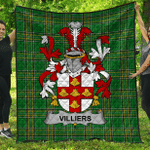 1stScotland Premium Quilt - Villiers Irish Family Crest Quilt - Irish National Tartan A7