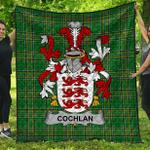 1stScotland Premium Quilt - Cochlan Or Mccoughlan Irish Family Crest Quilt - Irish National Tartan A7