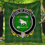 1stScotland Premium Quilt - House Of O'Hanly Irish Family Crest Quilt - Irish National Tartan A7