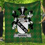 1stScotland Premium Quilt - Waring Irish Family Crest Quilt - Irish National Tartan A7