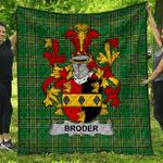 1stScotland Premium Quilt - Broder Or O'Broder Irish Family Crest Quilt - Irish National Tartan A7