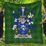 1stScotland Premium Quilt - Dalton Irish Family Crest Quilt - Irish National Tartan A7