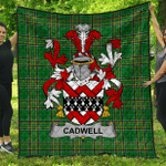 1stScotland Premium Quilt - Cadwell Or Caddell Irish Family Crest Quilt - Irish National Tartan A7