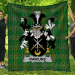 1stScotland Premium Quilt - Rawlins Irish Family Crest Quilt - Irish National Tartan A7