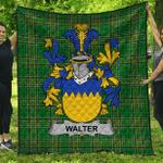1stScotland Premium Quilt - Walter Irish Family Crest Quilt - Irish National Tartan A7