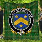 1stScotland Premium Quilt - House Of O'Monohan Irish Family Crest Quilt - Irish National Tartan A7