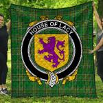 1stScotland Premium Quilt - House Of Lacy Irish Family Crest Quilt - Irish National Tartan A7