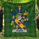 1stScotland Premium Quilt - Tilson Irish Family Crest Quilt - Irish National Tartan A7