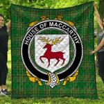 1stScotland Premium Quilt - House Of Maccarthy Irish Family Crest Quilt - Irish National Tartan A7