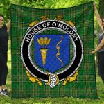 1stScotland Premium Quilt - House Of O'Molony Irish Family Crest Quilt - Irish National Tartan A7