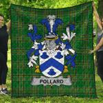 1stScotland Premium Quilt - Pollard Irish Family Crest Quilt - Irish National Tartan A7