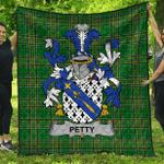 1stScotland Premium Quilt - Petty Irish Family Crest Quilt - Irish National Tartan A7