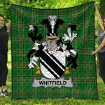 1stScotland Premium Quilt - Whitfield Irish Family Crest Quilt - Irish National Tartan A7