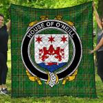 1stScotland Premium Quilt - House Of O'Neill Irish Family Crest Quilt - Irish National Tartan A7