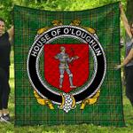 1stScotland Premium Quilt - House Of O'Loughlin Irish Family Crest Quilt - Irish National Tartan A7