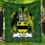 1stScotland Premium Quilt - Mcfall Irish Family Crest Quilt - Irish National Tartan A7