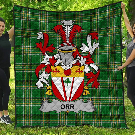 1stScotland Premium Quilt - Orr Irish Family Crest Quilt - Irish National Tartan A7