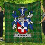 1stScotland Premium Quilt - Keenan Or O'Kinahan Irish Family Crest Quilt - Irish National Tartan A7