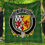 1stScotland Premium Quilt - House Of O'Quinlan Irish Family Crest Quilt - Irish National Tartan A7
