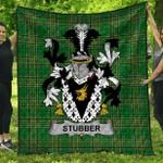 1stScotland Premium Quilt - Stubber Irish Family Crest Quilt - Irish National Tartan A7