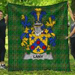 1stScotland Premium Quilt - Lany Or Laney Irish Family Crest Quilt - Irish National Tartan A7