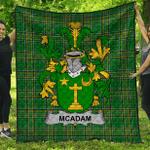 1stScotland Premium Quilt - Mcadam Irish Family Crest Quilt - Irish National Tartan A7
