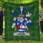 1stScotland Premium Quilt - Keane Or O'Cahan Irish Family Crest Quilt - Irish National Tartan A7