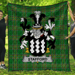 1stScotland Premium Quilt - Stafford Irish Family Crest Quilt - Irish National Tartan A7
