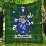 1stScotland Premium Quilt - Faulkner Irish Family Crest Quilt - Irish National Tartan A7
