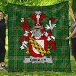 1stScotland Premium Quilt - Quigley Or O'Quigley Irish Family Crest Quilt - Irish National Tartan A7