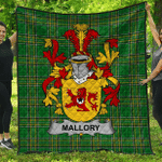 1stScotland Premium Quilt - Mallory Irish Family Crest Quilt - Irish National Tartan A7