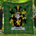 1stScotland Premium Quilt - Griffin Or O'Griffy Irish Family Crest Quilt - Irish National Tartan A7