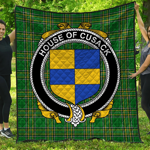 1stScotland Premium Quilt - House Of Cusack Irish Family Crest Quilt - Irish National Tartan A7