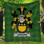 1stScotland Premium Quilt - Graham Or Grahan Irish Family Crest Quilt - Irish National Tartan A7