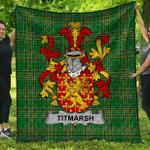 1stScotland Premium Quilt - Titmarsh Irish Family Crest Quilt - Irish National Tartan A7