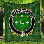 1stScotland Premium Quilt - House Of Maccurtin Irish Family Crest Quilt - Irish National Tartan A7