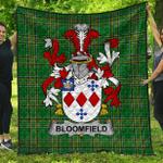 1stScotland Premium Quilt - Bloomfield Irish Family Crest Quilt - Irish National Tartan A7