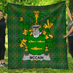1stScotland Premium Quilt - Mccain Or O'Kane Irish Family Crest Quilt - Irish National Tartan A7