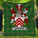 1stScotland Premium Quilt - Langton Irish Family Crest Quilt - Irish National Tartan A7