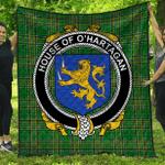 1stScotland Premium Quilt - House Of O'Hartagan Irish Family Crest Quilt - Irish National Tartan A7