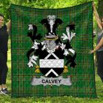 1stScotland Premium Quilt - Calvey Or Mcelwee Irish Family Crest Quilt - Irish National Tartan A7