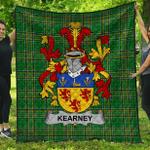 1stScotland Premium Quilt - Kearney Or O'Kearney Irish Family Crest Quilt - Irish National Tartan A7
